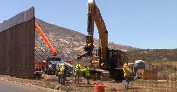 VIDEO: New Border Fence Construction Goes Up in Tecate, California East of San Diego