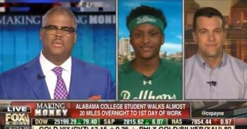 CHARLES PAYNE Chokes Up on Live TV After Talking to Black College Student Who Walked 20 Miles to First Day of Work (VIDEO)