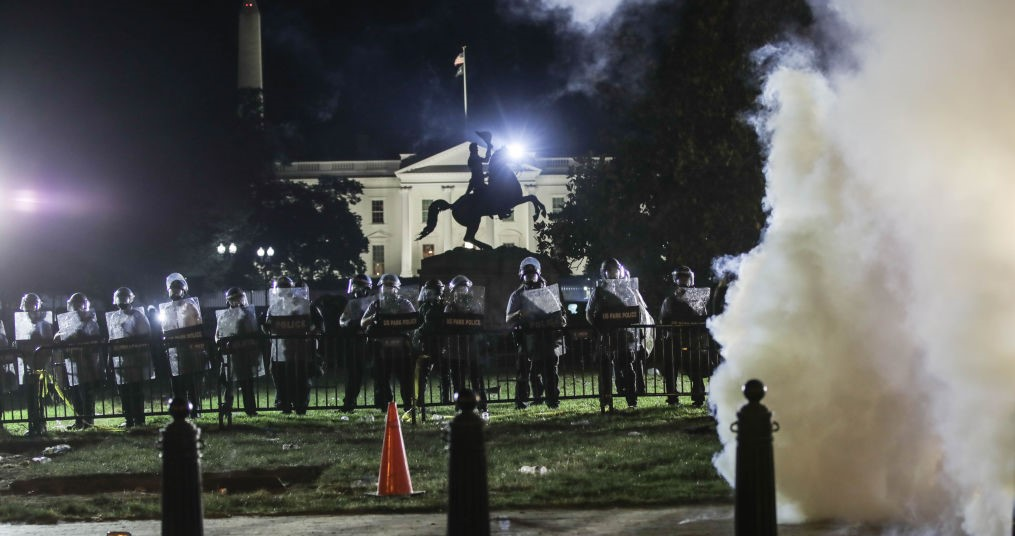 Biden Mocked Trump for 'Hiding in His Bunker' After Antifa and Black Lives Matter Insurrectionists Tried to Storm the White House Last Year, Injuring Dozens of Cops