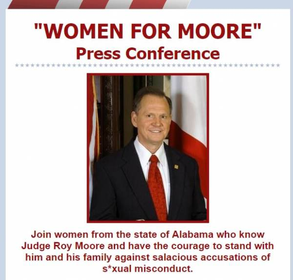 """HUGE TURNOUT for """"WOMEN FOR MOORE"""" Press Conference at Alabama State Capitol!"""
