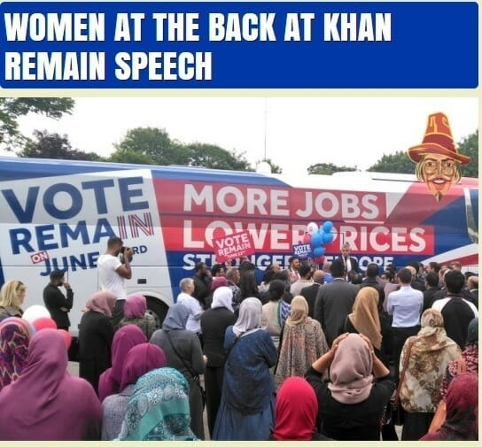 women rally khan back