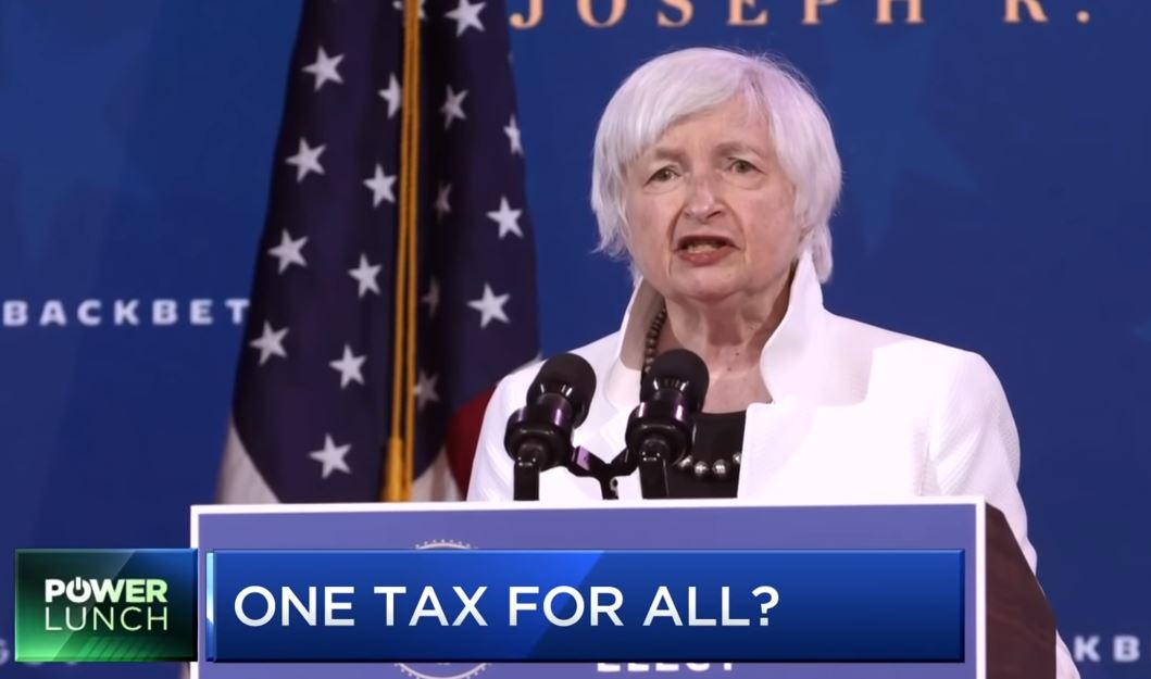 Globalist Janet Yellen Calls for Global Minimum Corporate Tax Rate So Biden Can Raise Taxes on US Companies without Worry