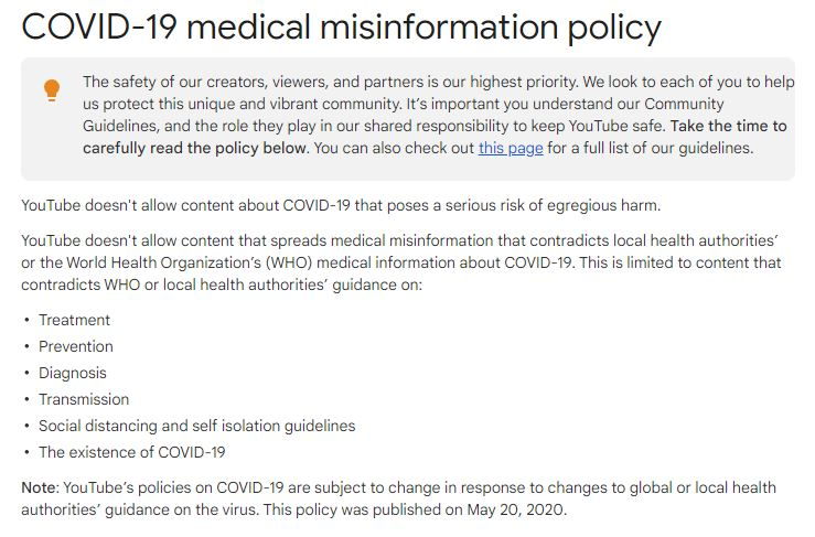 """Google-YouTube to Ban ANY CLAIMS that """"Vaccines are Ineffective or Dangerous"""" despite the Death Numbers – Suspends Robert F. Kennedy's Account Youtube-google-ban-covid"""